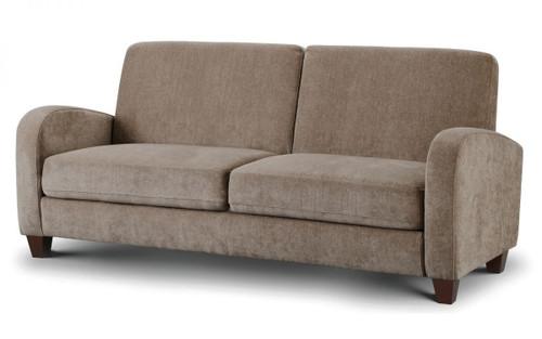 Vivo Mink Brown 3 Seater Chenille Fabric Sofa