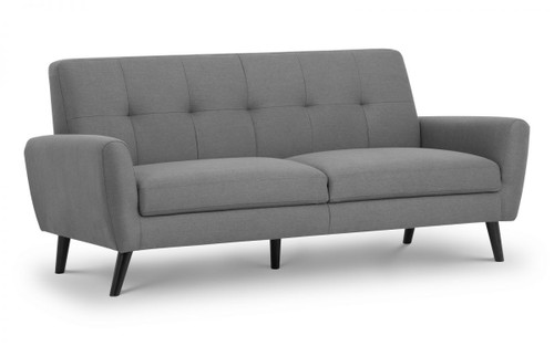 Monza Grey 3 Seater Fabric Sofa
