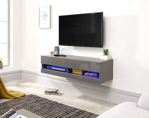 Galicia Grey Mounted TV Unit 150cm