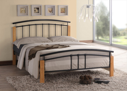 Tetras Black Metal Bed