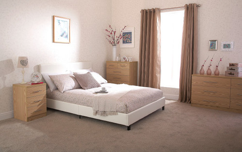 Faux Leather White Bed in a Box