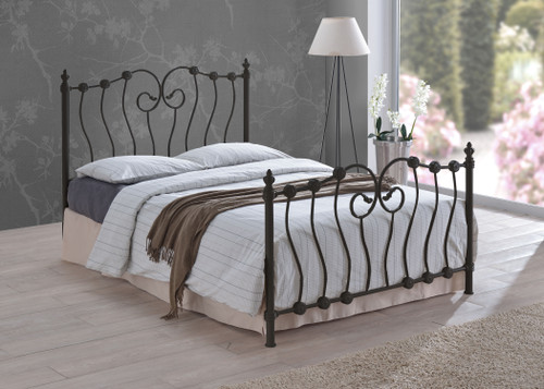 Inova Black Metal Bed