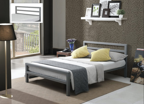 City Block Bed Grey