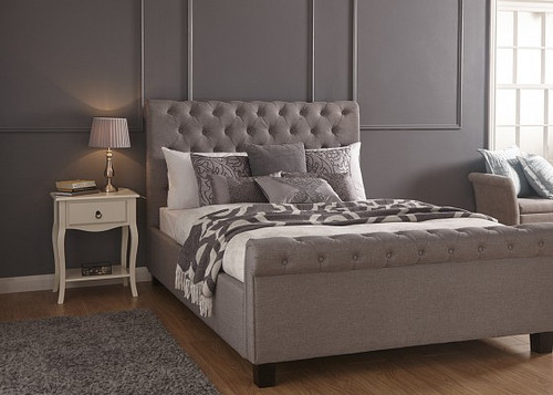 Layla Ottoman Bed in Silver