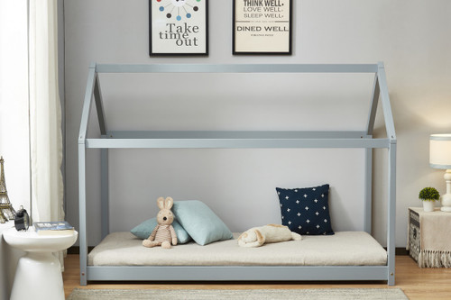 House Bed in Grey