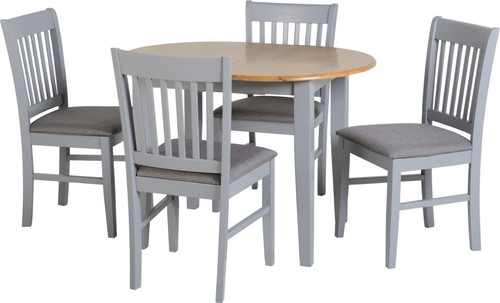 Oxford Extending Dining Set in Grey