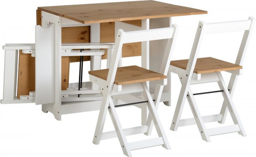 Santos Butterfly Dining Set in White
