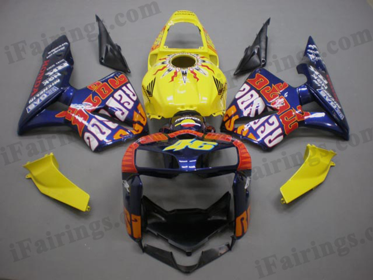 Aftermarket Fairing Kit For 2005 2006 Cbr600rr Rossi Repsol Motogp Edition