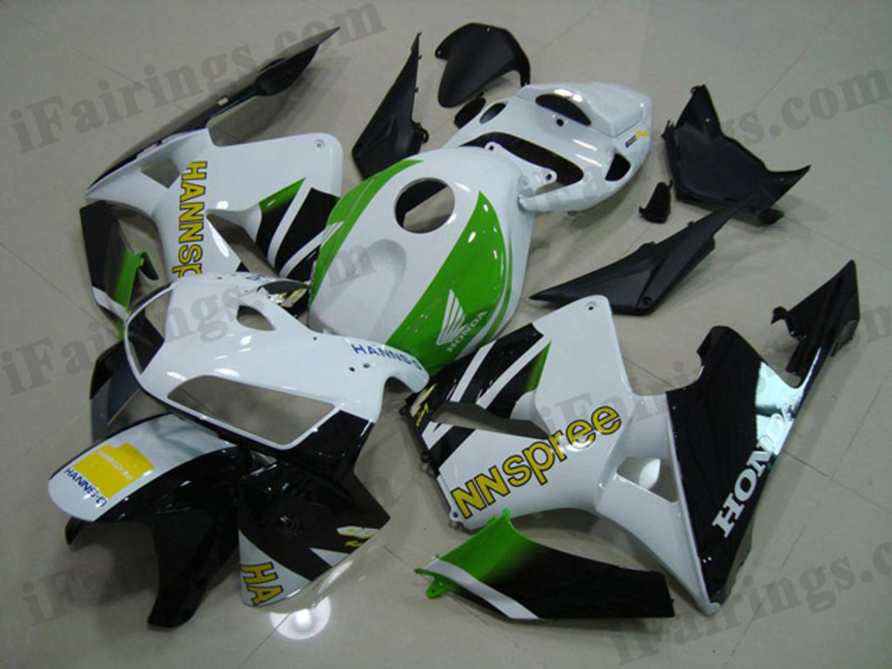Aftermarket Fairing Kits For 2005 2006 Cbr600rr Hannspree Decals