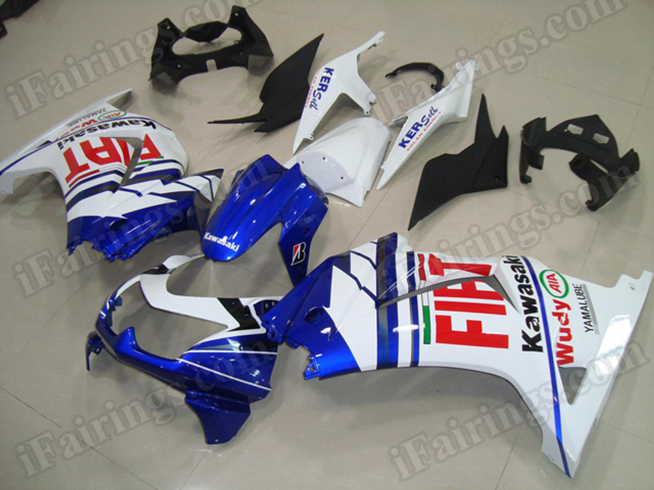 Oem Replacement Fairing Kits For Kawasaki Ninja 250r Ex250 2008 To 2012 With Fiat Decals
