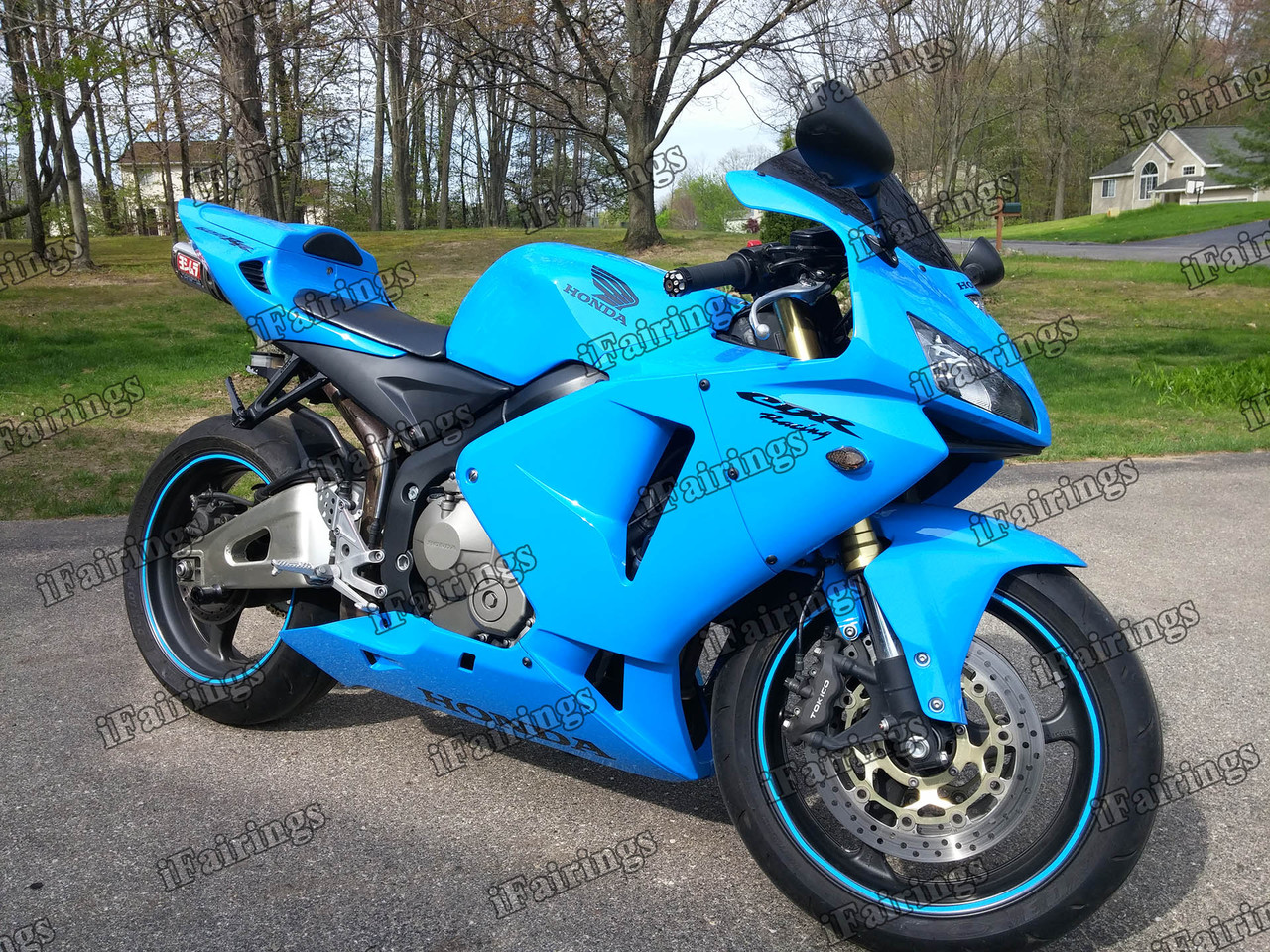 2005 2006 Honda Cbr600rr Blue Fairing Kit