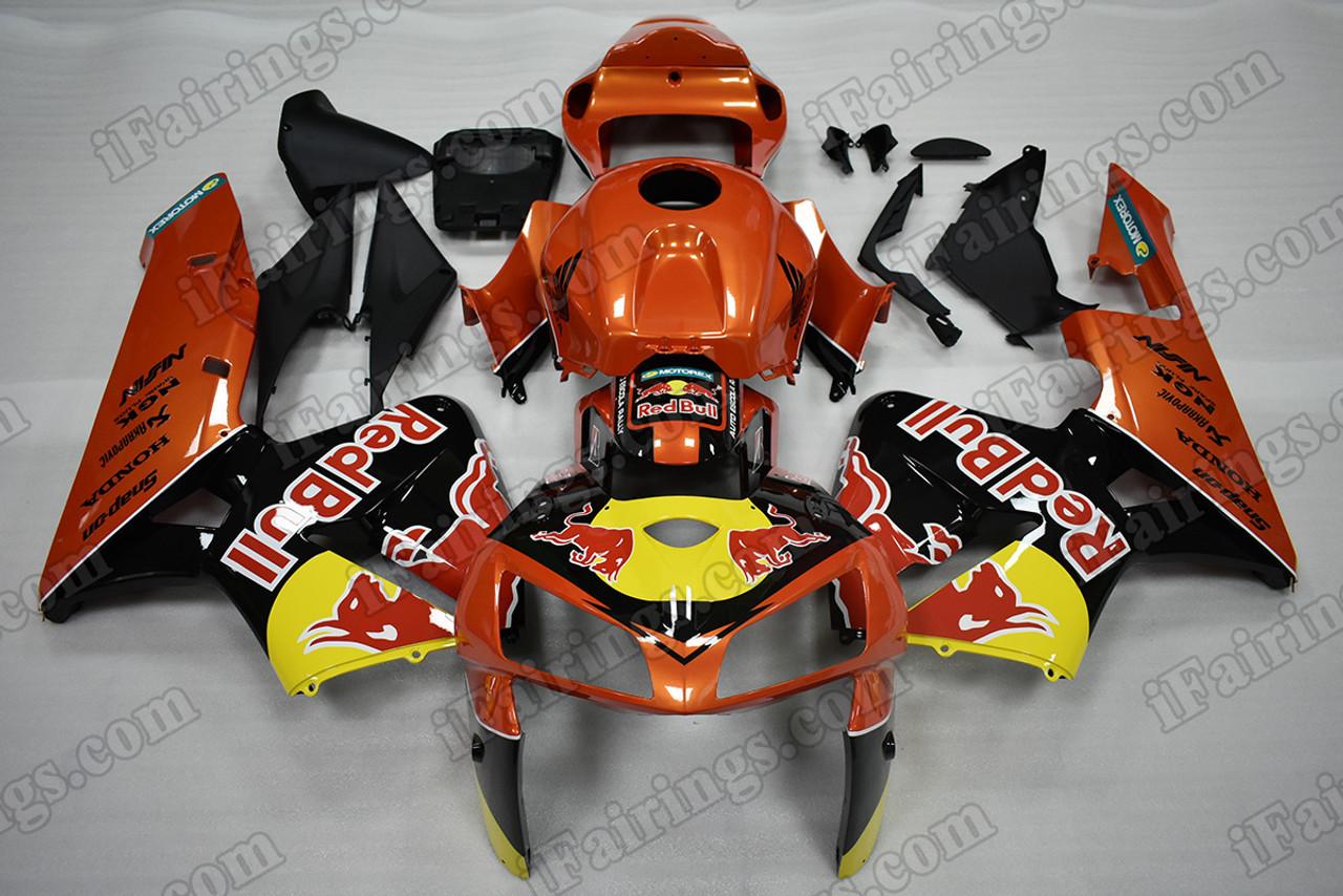 2005 2006 Honda Cbr600rr Redbull Fairing Kit