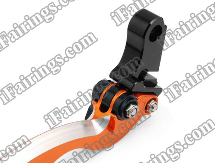 Orange CNC blade brake & clutch levers for Ducati 749/S/R 2003 to 2006 (F-11/H-11). Our levers are designed as a direct replacement of the stock levers but more benefit over the stock ones