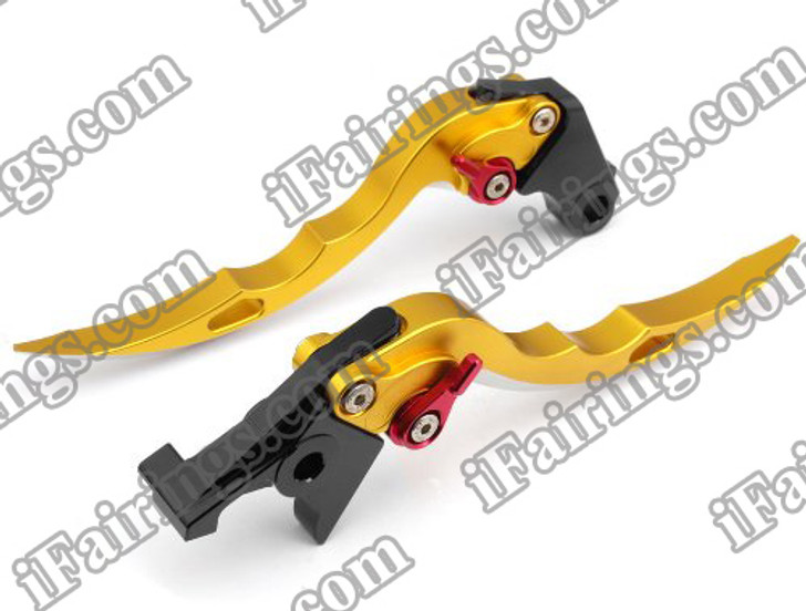 Gold CNC blade brake & clutch levers for Ducati 999/S/R 2003 to 2006 (F-11/H-11). Our levers are designed as a direct replacement of the stock levers but more benefit over the stock ones