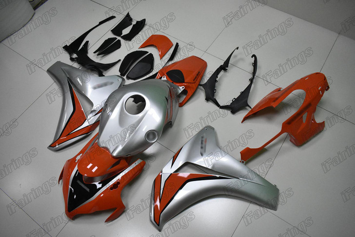 2008 2009 2010 2011 Honda CBR1000RR Fireblade OEM fairing pearl orange and silver metallic scheme
