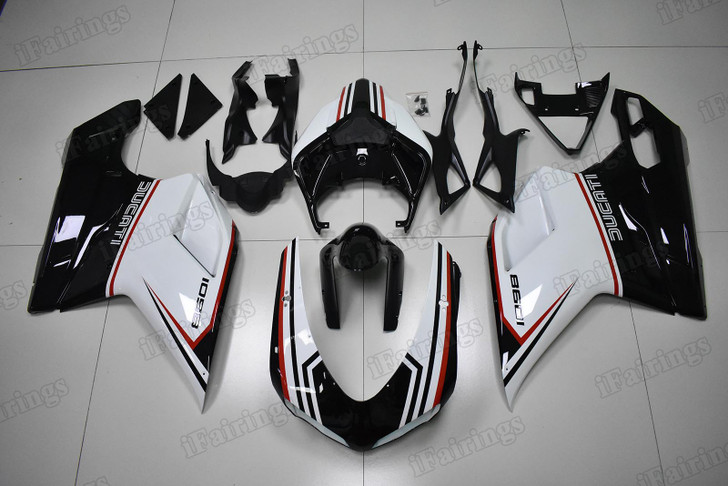 Ducati 848 1098 1198 tricolore nero fairing kit