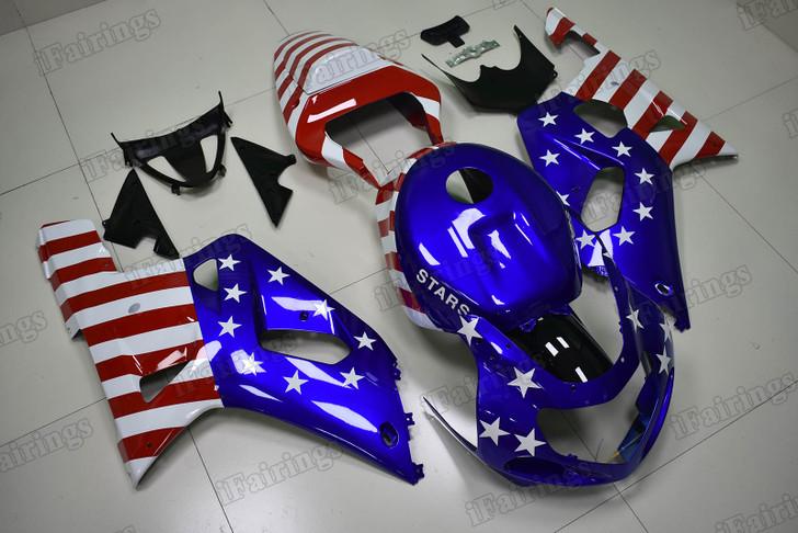 2001 2002 2003 Suzuki GSXR600/750 US flag fairing kit