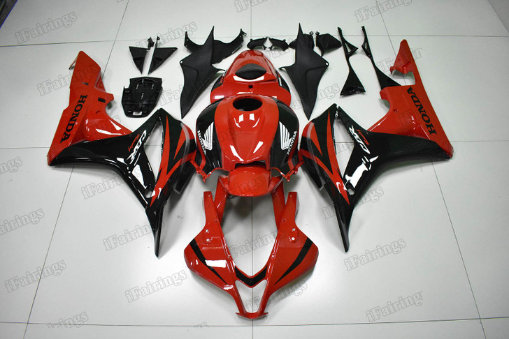 2007 2008 Honda CBR600RR OEM Fairings red and black pattern