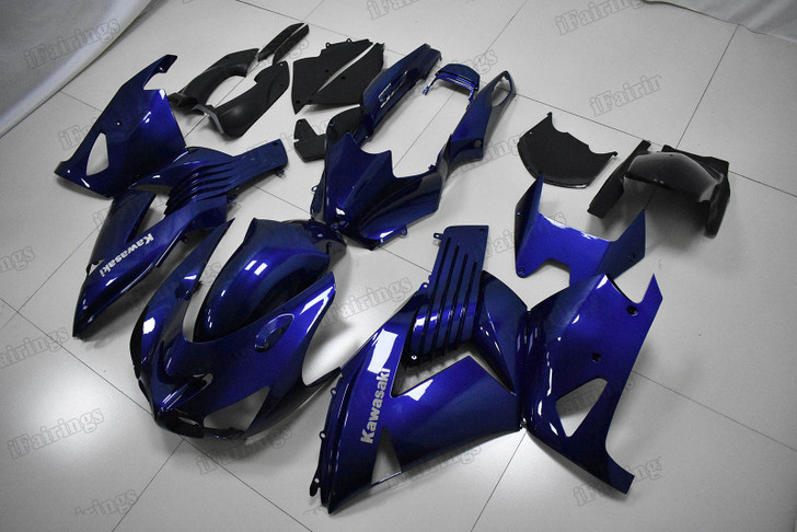 Kawasaki ZX14R ZZR1400 bodywork in blue