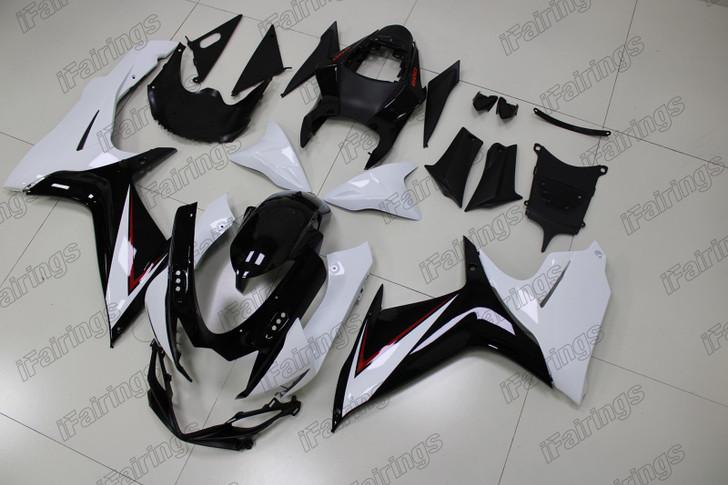 2011 to 2019 Suzuki GSXR600/750 white and black fairing