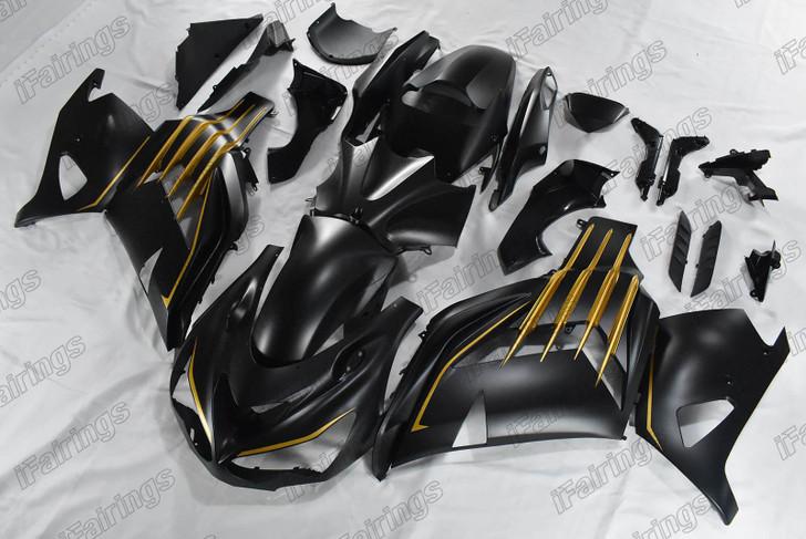 Kawasaki ZX14R ZZR1400 matte black fairing
