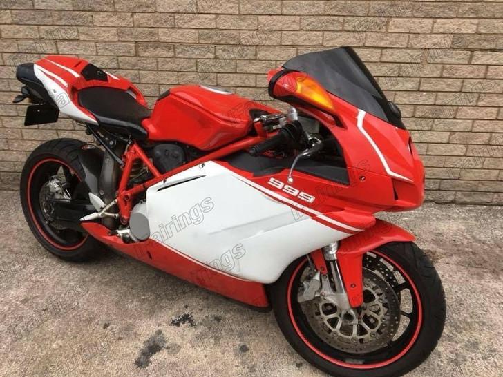 2005 2006 Ducati 749 999 orange and wite fairing