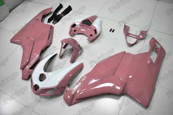 2005 2006 Ducati 749 999 white and pink fairing