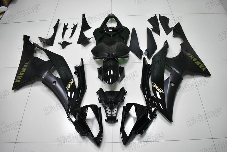 Yamaha R6 2008 to 2016 OEM replacement fairings black