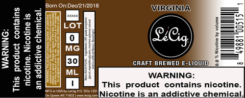 Imported Virginia  eJuice