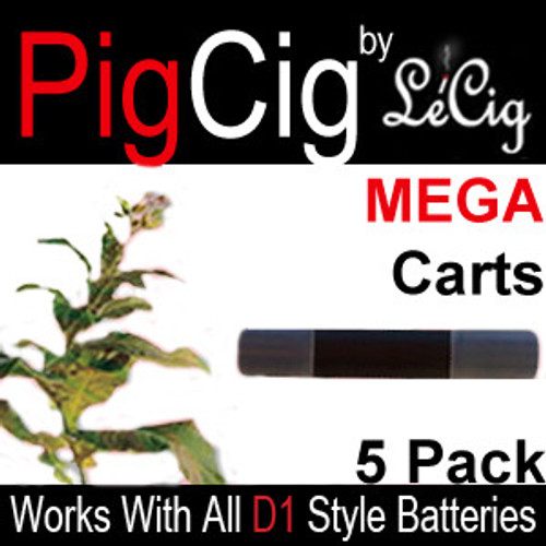 Tobacco MEGA Cartomizers - 5 Pack