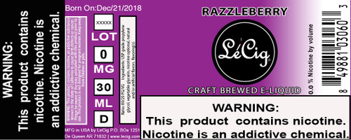 US Made Razzleberry eJuice