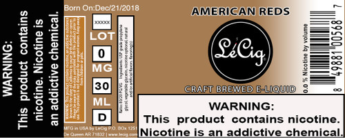 US Made American Reds eJuice