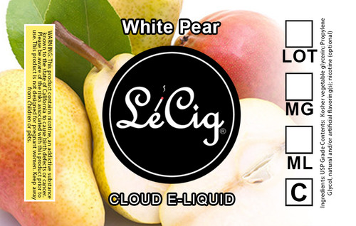 LeCloud White Pear eJuice