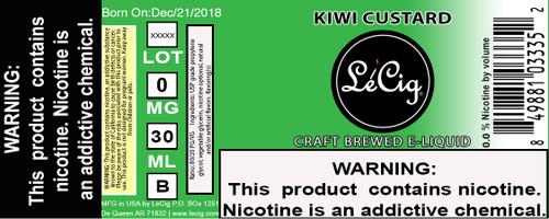 Premium Kiwi Custard eJuice