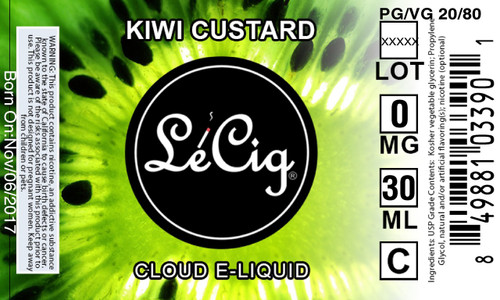 LeCloud Kiwi Custard eJuice