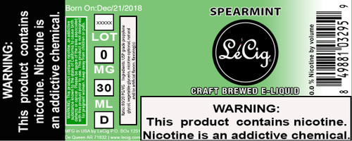 US Made Spearmint eJuice