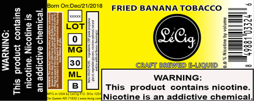 Premium Fried Banana Tobacco eJuice