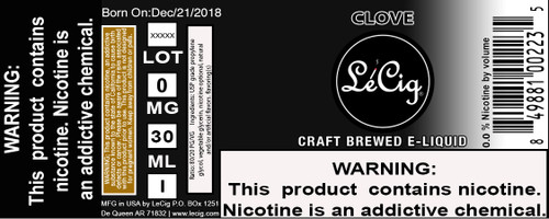 Imported Clove eJuice