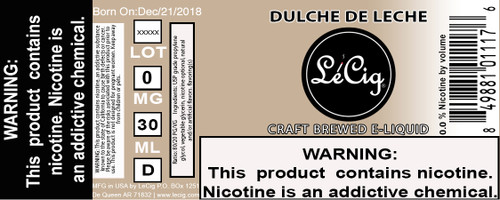 US Made Dulce De Leche eJuice