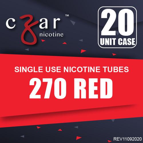 cZar 270 Red - 20 Single Use Nicotine Tubes