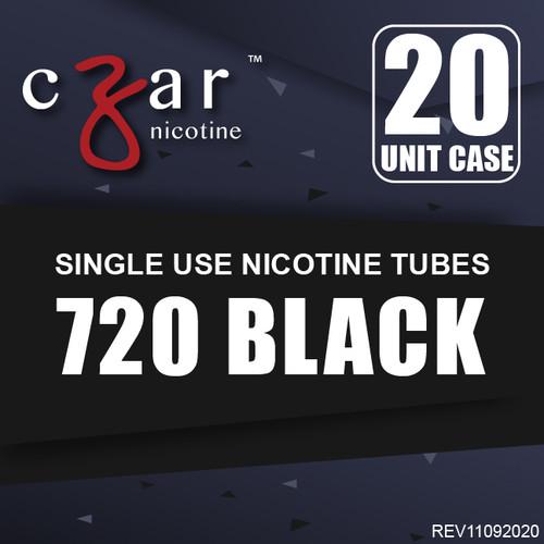 cZar 720 Black - 20 Single Use Nicotine Tubes