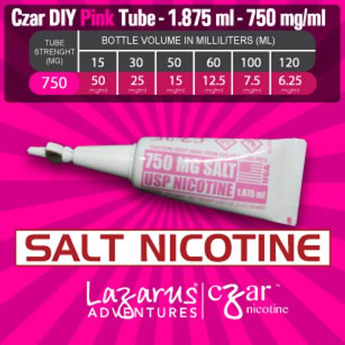 cZar 750 Pink Salt - 1 Single Use Nicotine Tube