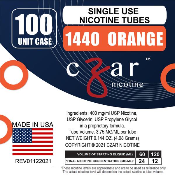 cZar 1440 Orange - 100 Single Use Nicotine Tubes