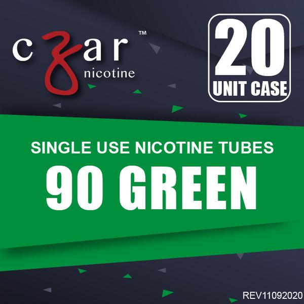 cZar 90 Green - 20 Single Use Nicotine Tubes