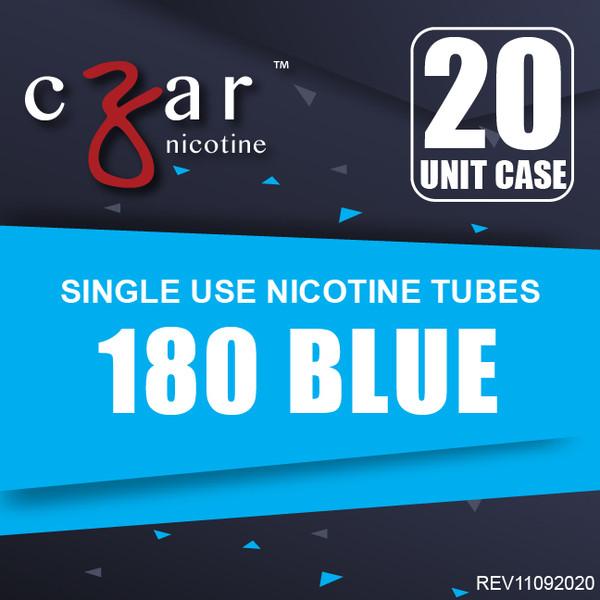 cZar 180 Blue - 20 Single Use Nicotine Tubes