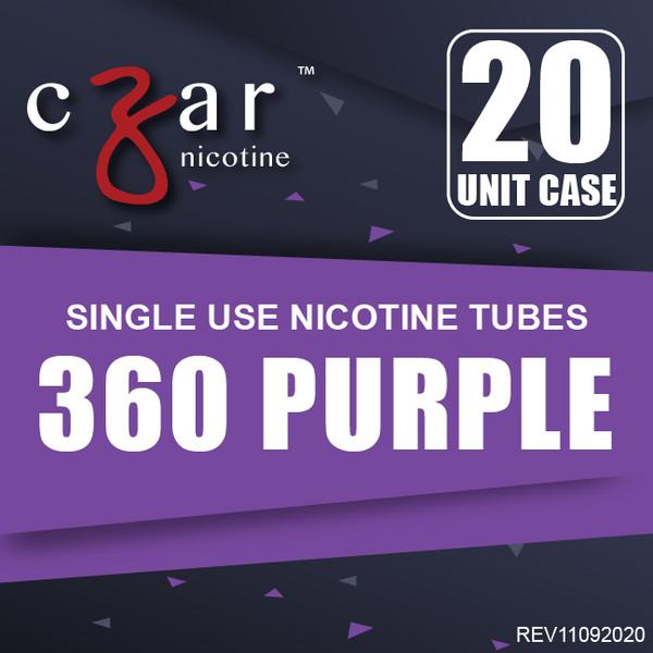cZar 360 Purple - 20 Single Use Nicotine Tubes