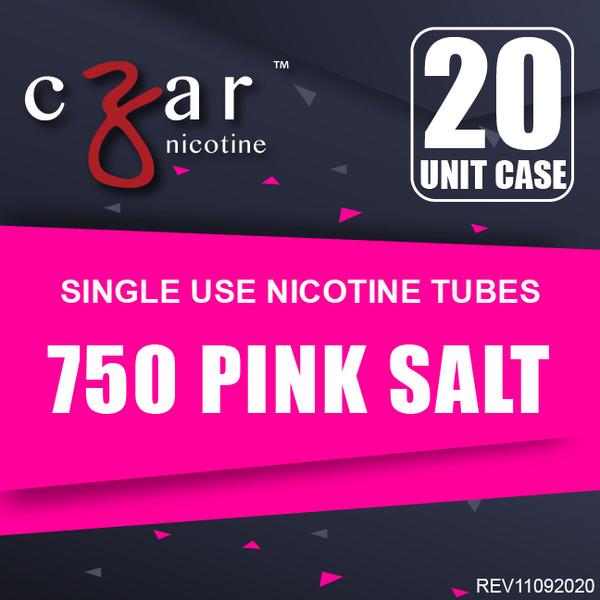 cZar 750 Pink Salt - 20 Single Use Nicotine Tubes