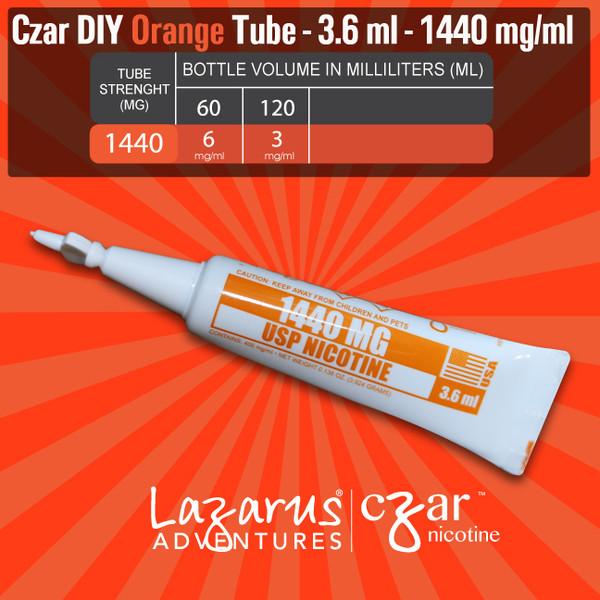 cZar 1440 Orange - 20 Single Use Nicotine Tubes