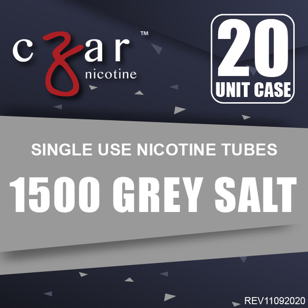 cZar 1500 Gray - 20 Single Use Nicotine Tubes