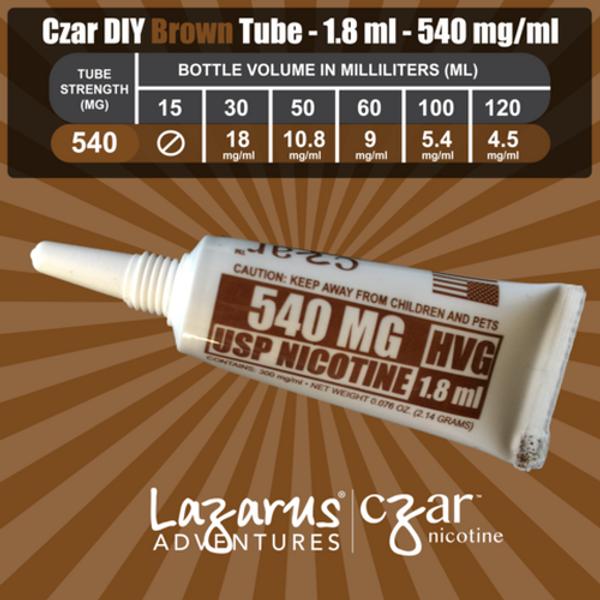 Copy of cZar 540 Brown - 1 Single Use Nicotine Tube